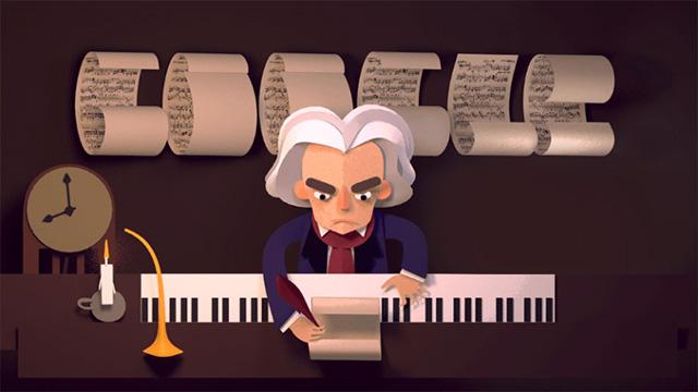 Google Beethoven Logo