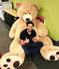 Big Stuffed Teddy Bears At Google Office