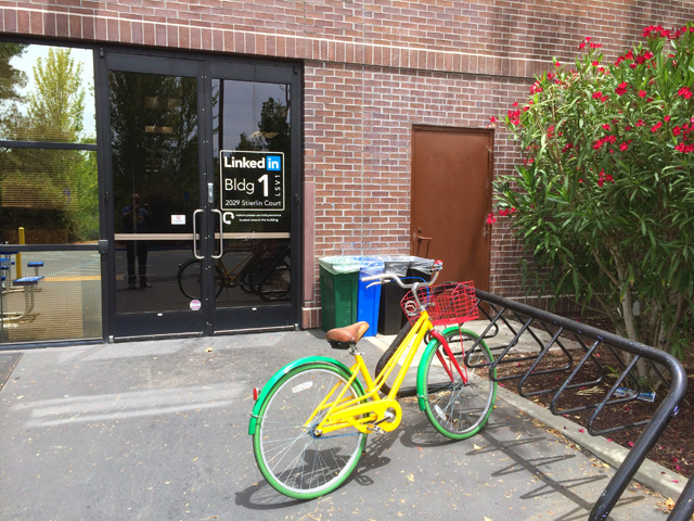 Google Bike At LinkedIn
