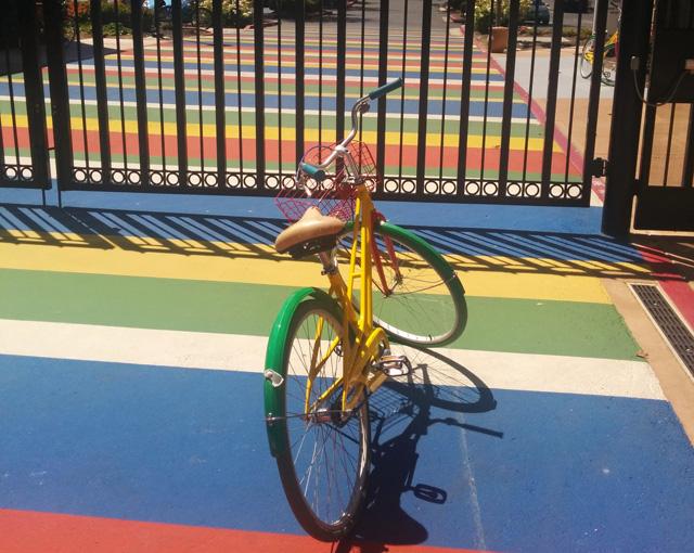 A Google Bike In Its Habitat