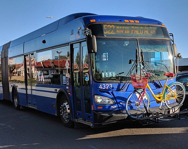 A Google Bike On A Bus