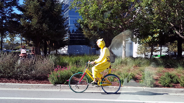 Pokeman On Google Bike At GooglePlex