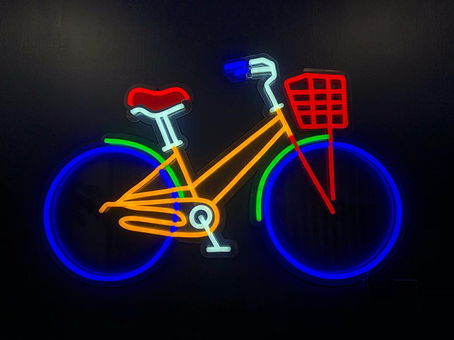 Google Bike Neon Sign