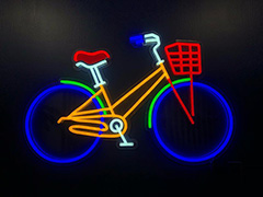 Neon Sign For Google Bike