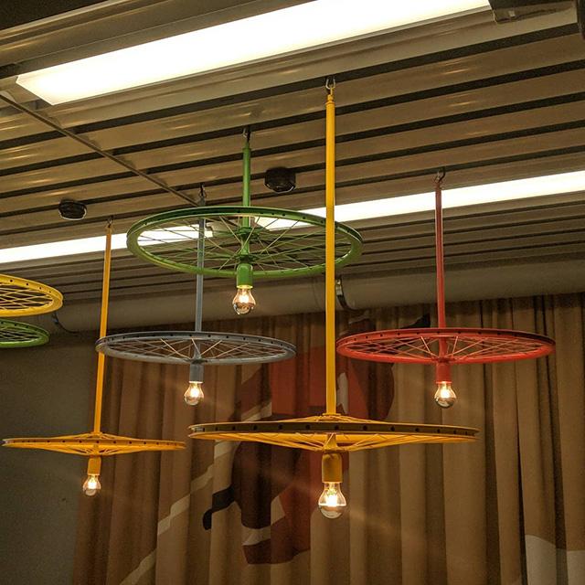 Google Bicycle Wheel Light Fixtures