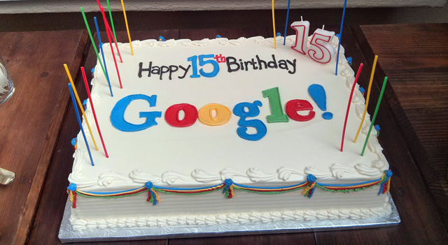 Google Birthday Cake
