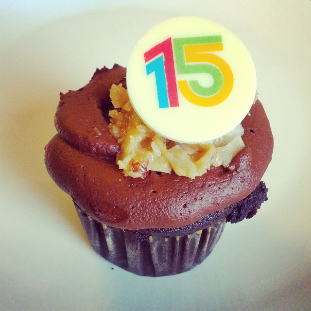 Google's 15th Birthday Cupcakes