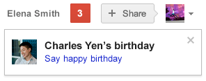 Google+ Birthday Reminders