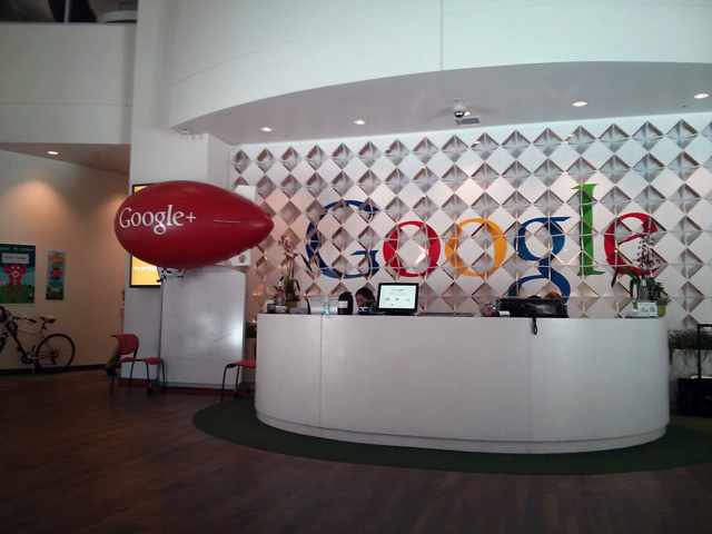 Google Blimp In Lobby