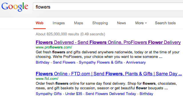 flowers in Google