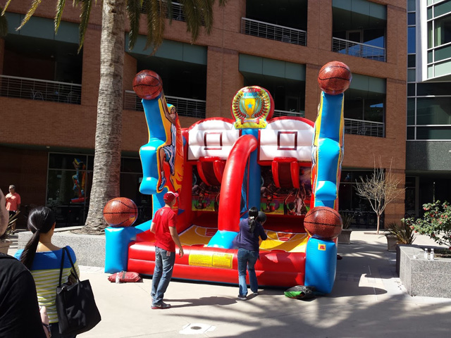 Inflatable Basketball At Google