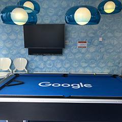 Google's Blue Pool Table Room
