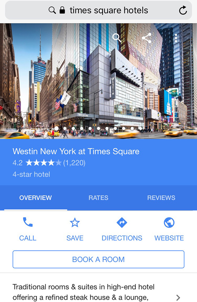 Google Rolling Out Book A Room For Hotel Results