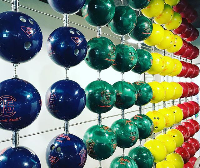 Google Bowling Ball Wall