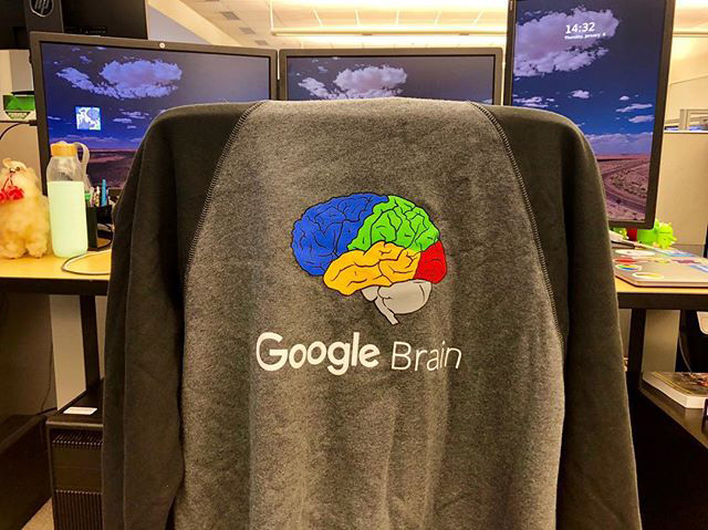 Google Brain Fleece Jacket