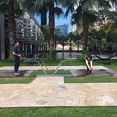 Outdoor Ping Pong Table At Google Brazil Office