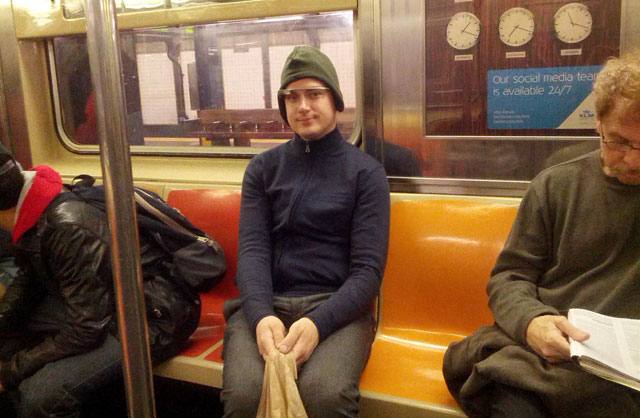 Joseph Smarr Google Glass NYC Subway