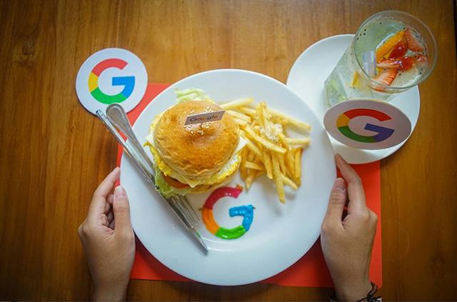 Google Burger & Fries Plate