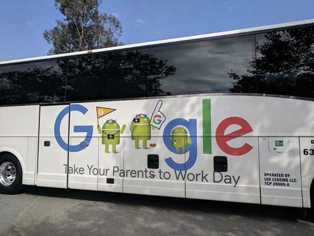 Take Your Parents To Work Day Google Bus