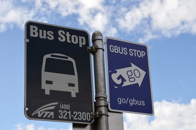 Google Bus Stop Sign