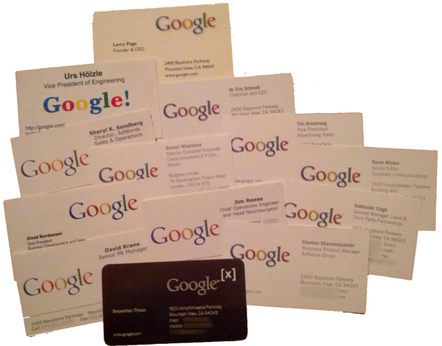 Google Business Card Collection