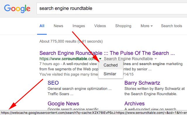 google cache HTTPS