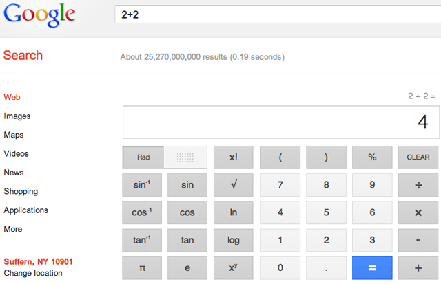 Google's New Calculator