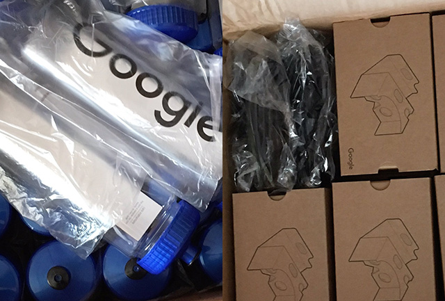 Google Sends Mentor Boxes Of Water Bottles & Google Cardboard