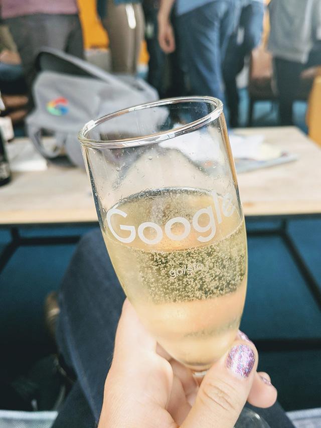 Google Champagne Glass
