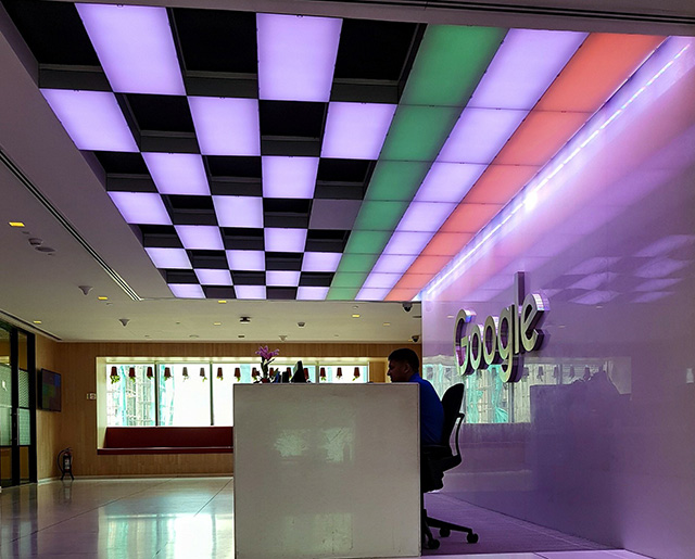 Google Checker Colored & India Flag Lite Ceiling