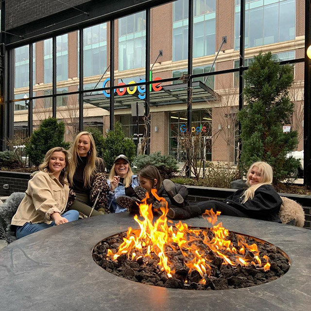 Google Chicago Fire Pit