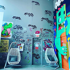 Google Chicago Hip Graffiti Walls & Swing Chairs