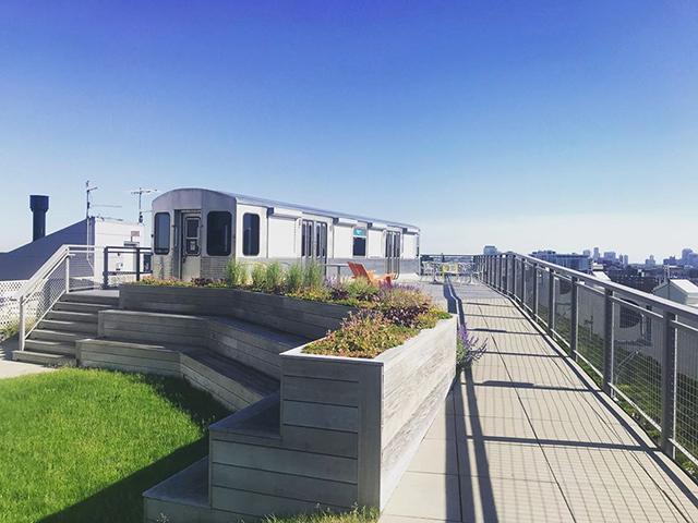 Google Chicago Rooftop Landscape & Subway Car