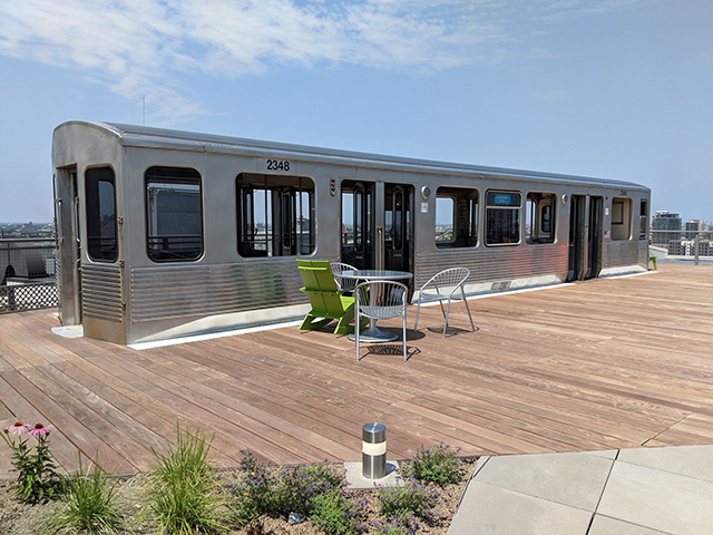Google Chicago Rooftop Subway Car