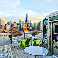 Google Chicago Rooftop View