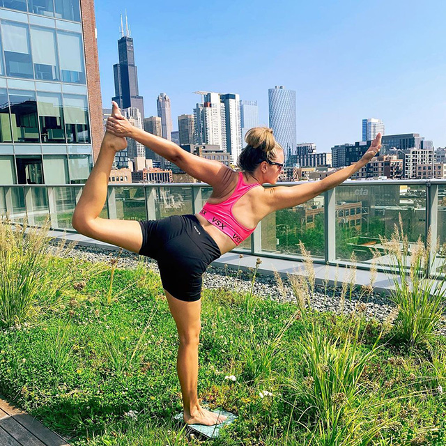 Google Chicago Rooftop Yoga Session