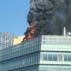 Google China's Beijing Office Fire Video & Photos