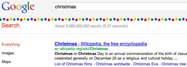 Google's Christmas Decorations