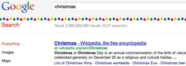 Google's Christmas Decorations