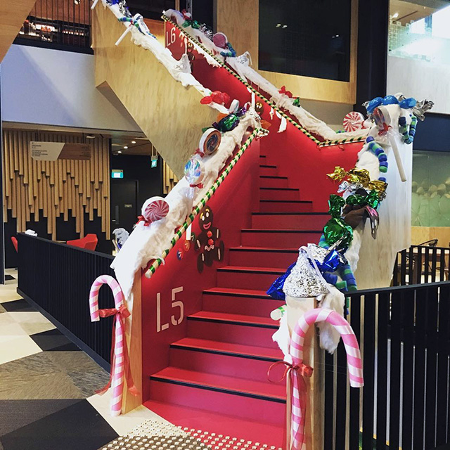Google Christmas Staircase