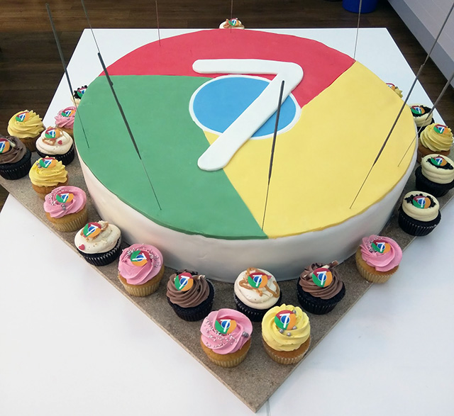 Google Chrome Birthday Cake