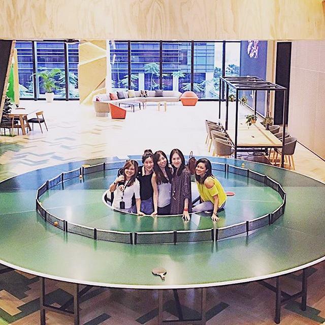 Google Circular Ping Pong Table