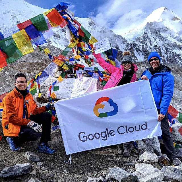 Google Cloud On Mount Everest