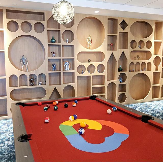 Google Cloud Red Pool Table