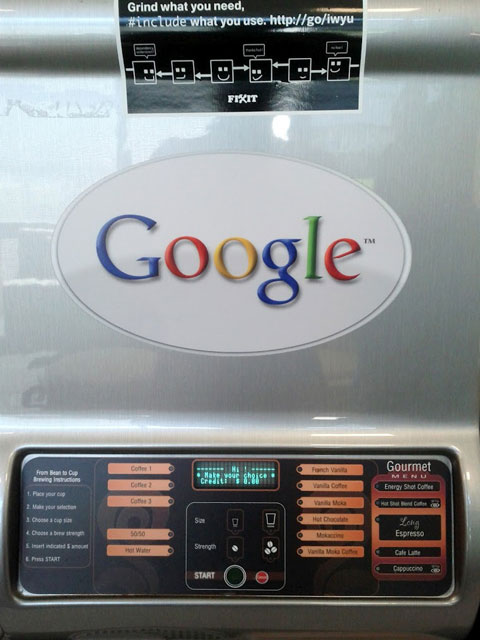 Google Coffee Machines