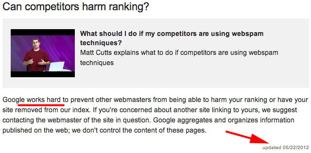 Google: Can Competitors Harm Ranking