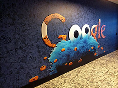 Google Amsterdam Lobby & The Cookie Monster Logo
