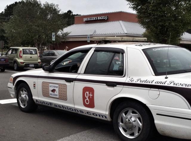 Google+ Police Car