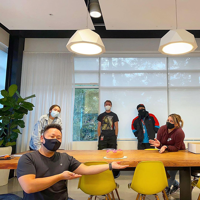 Birthday Party In The Google Office During The Coronavirus