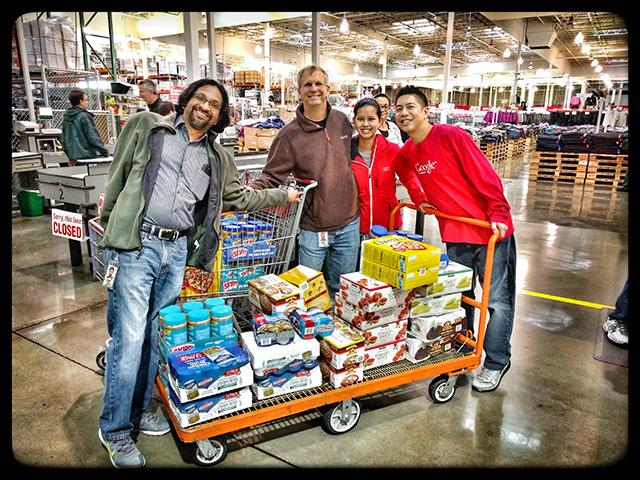 Annual Google, Costco, Second Harvest Food Bank Spree